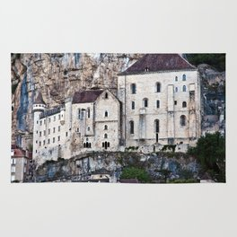 Medieval Facade of the French Castle in Rocamadour Rug