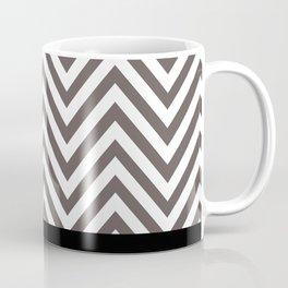 Chevron Striped Seafoam Aqua, Grey, Black Coffee Mug