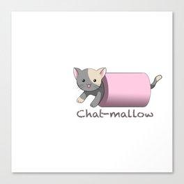 Chat-mallow Canvas Print