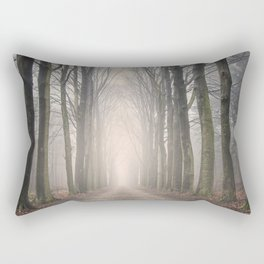 Through the Misty Wood Rectangular Pillow
