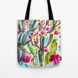 Café Cactus Tote Bag