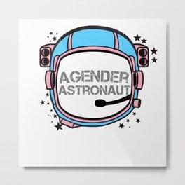 Agender Astronaut Metal Print