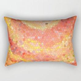 Portal. Red orange mosaic drawing Rectangular Pillow