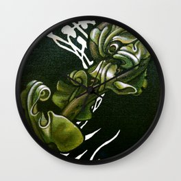 Kiokio - Unfolding Fern Wall Clock