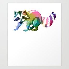 Raccoon Distressed Art Print