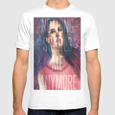 Nothing Scares Me Anymore White Mens Fitted Tee MEDIUM