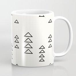 Minimalist Triangle Line Drawing Coffee Mug