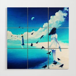 Lighthouse At The Sea Wood Wall Art