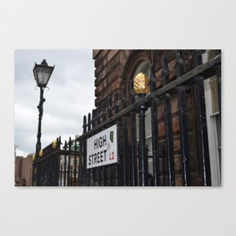 high street Canvas Print