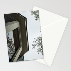 spring bloom reflected in loft window Stationery Cards