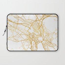 ZÜRICH SWITZERLAND CITY STREET MAP ART Laptop Sleeve