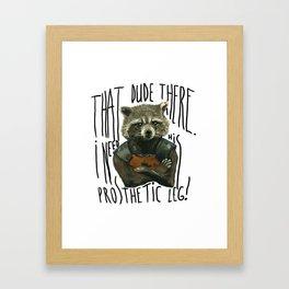 My Rocket Raccoon Framed Art Print