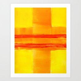 Yellow Intersection Art Print