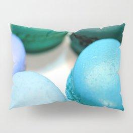 Macarons / Macaroons Teal Blue Pillow Sham