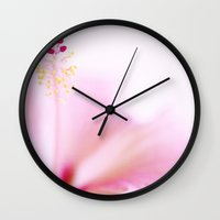 hibiscus Wall Clocks featuring Hibiscus by Jacky Parker
