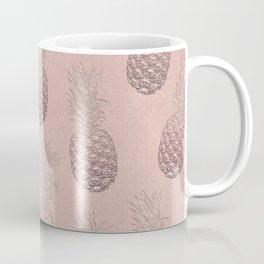 Precious Pineapple Pattern Rose Gold Coffee Mug