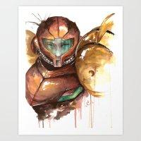 samus Art Prints featuring Samus by Alonzo Canto