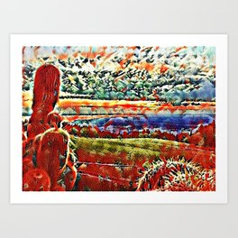 Bodensee Sunset with Cacti Art Print