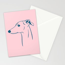 Italian Greyhound (Pink and Blue) Stationery Cards