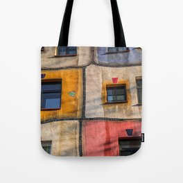 Hundertwasserhaus  Vienna Austria 2 building Tote Bag