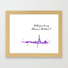 be my etienne st. clair? Framed Art Print