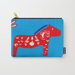 Dala Horse blue Carry-All Pouch