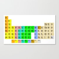 bible Canvas Prints featuring PERIODIC BIBLE by MR TEE