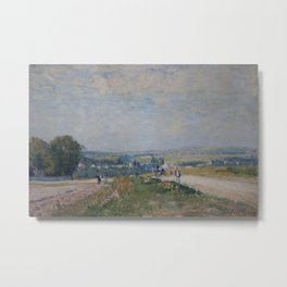 Alfred Sisley - The Road from Montbuisson to Louveciennes Metal Print