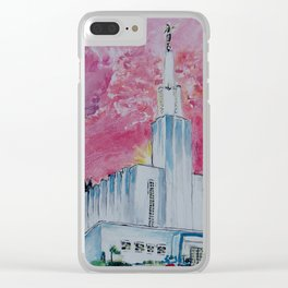Bern Switzerland LDS Temple Clear iPhone Case