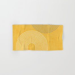Golden Minimalist Abstract Hand & Bath Towel