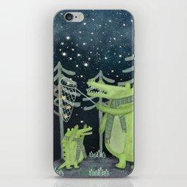 crocodoodle stars iPhone Skin