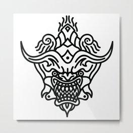 Devil Mask Metal Print