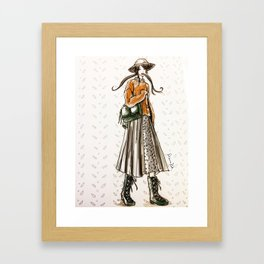 Cozy country walk Framed Art Print