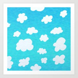 Happy Little Clouds Art Print