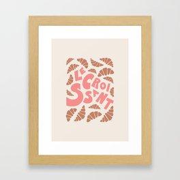 Le Croissant French Framed Art Print