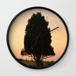 Silhouetted Tree Wall Clock