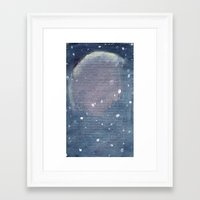 outer space Framed Art Prints featuring outer space by Amanda Powzukiewicz
