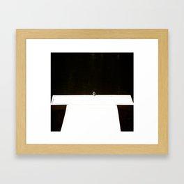 Alone - songbird on the pier #decor #society6 #homedecor Framed Art Print