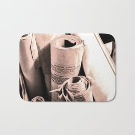 Mountain survey drawings Bath Mat