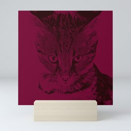 savannah cat portrait vabr Mini Art Print