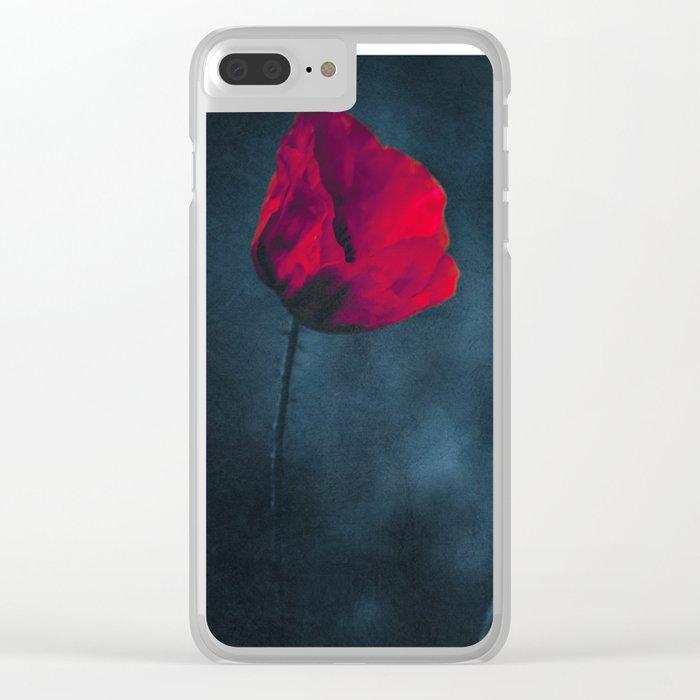 niGht blOOm - dark Poppy Clear iPhone Case