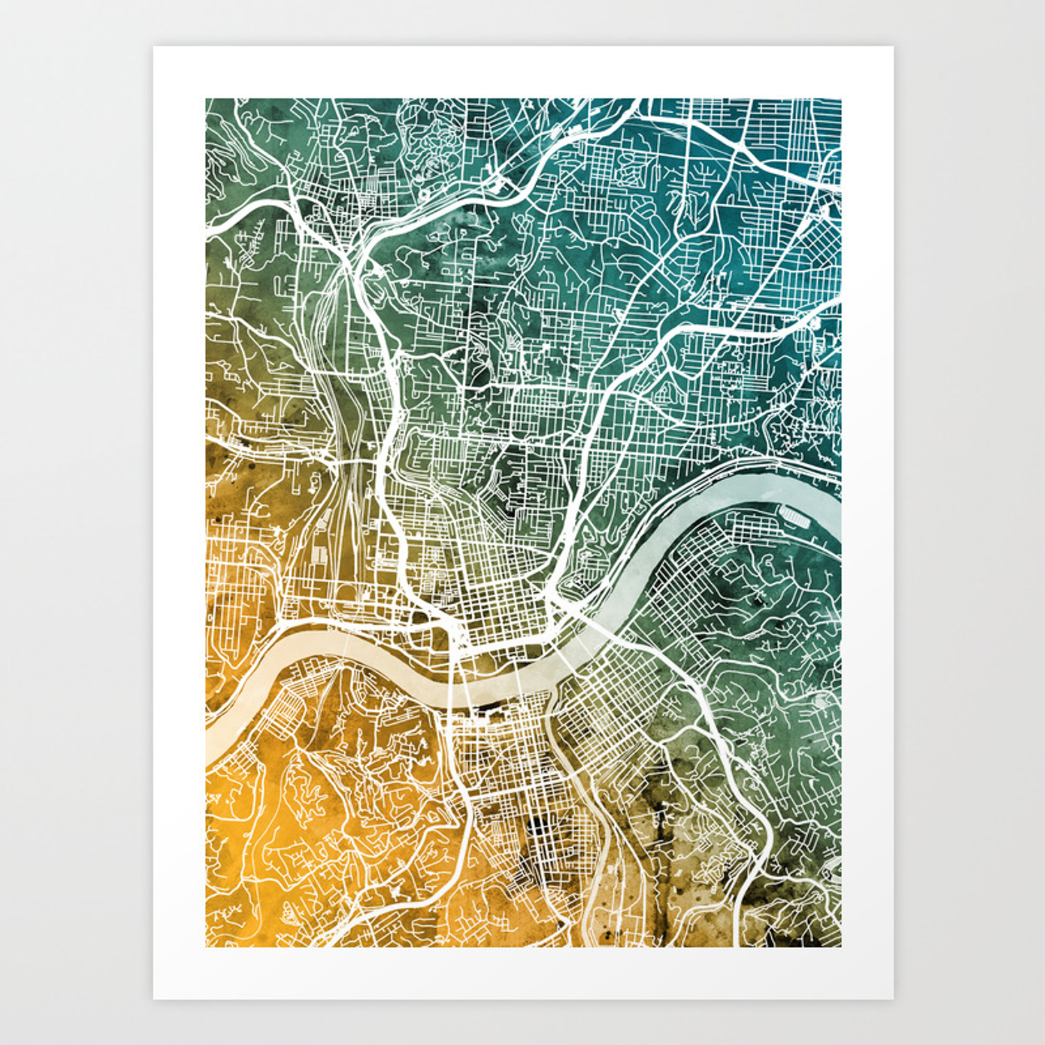 Cincinnati Ohio City Map Art Print on map travel, map de france, map in europe, map united states football league, map in india, map cornwall uk, map clip art, map heart ideas, map with mountains, map your neighborhood, map home decor, map without labels, map of usa and europe, map with states, map distance between cities, map background, map artist, map facebook covers, map recipe, map books,
