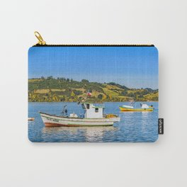 Fishing Boats at Lake, Chiloe, Chile Carry-All Pouch