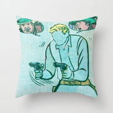 The Unknown Rider Comic Book Panel Throw Pillow