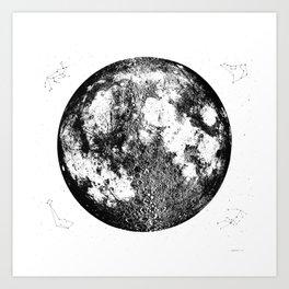 Negative Full Moon Print, by Christy Nyboer Art Print