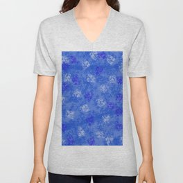 A Blue Winter Wonderland Unisex V-Neck