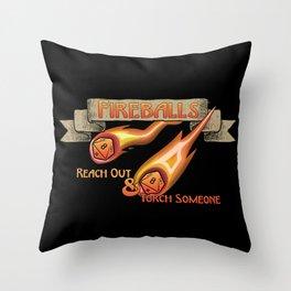 D&D - Fireballs Throw Pillow