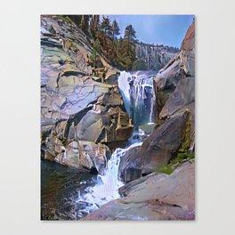 Waterfall, North Fork Kings River, California. Canvas Print