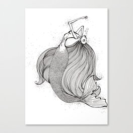 Drowning mermaid Canvas Print