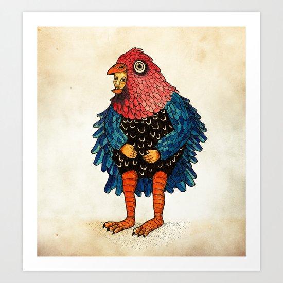 El pájaro Art Print